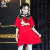 Sailor-bat Moon Cutsew One Piece - Red