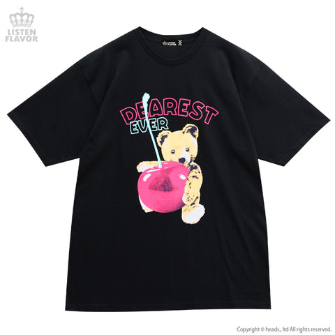 Love Cherry Bear T-Shirt - Black