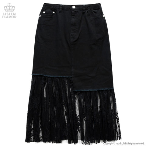 Asyme Switch Lace Skirt - Black