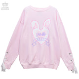 Fluffy Heart Sleeve Lace Pullover - L. Pink