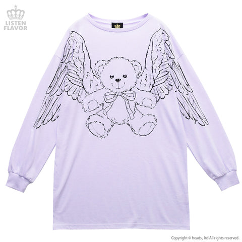 Flying Teddy Bear Pull Over - Lavender