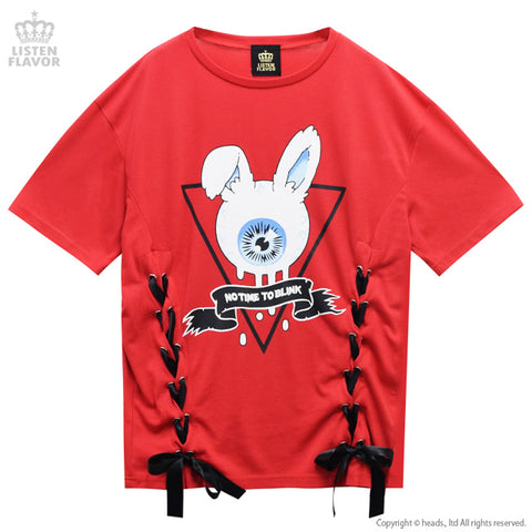 Eyeball Bunny Lace Up Cutsew - Red