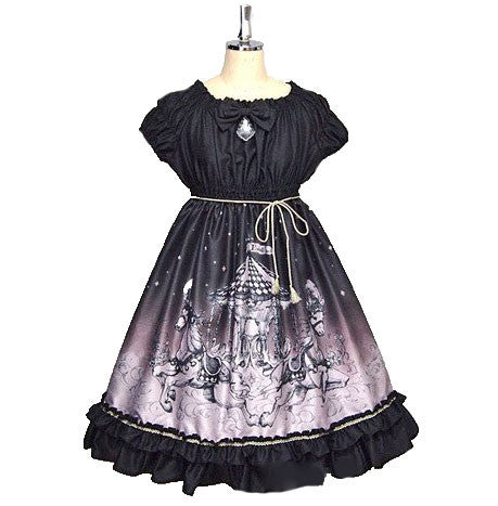 Phantom Night Babydoll - Black x Gold Glitter