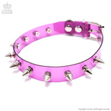 Clear Studs Choker - Purple