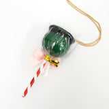 Candy Apple Necklace - Green Apple