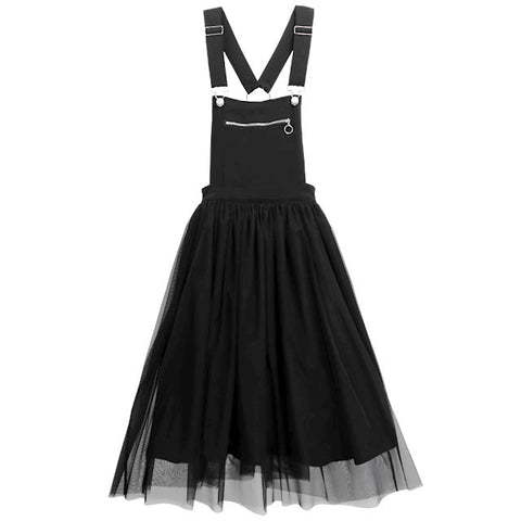 Tulle Layered Jumperskirt - Black