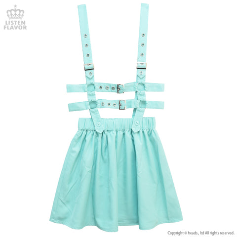 Flare skirt with Harness Belt - Mint