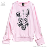 Extremely Poisonous Pullover With Harness - Pink