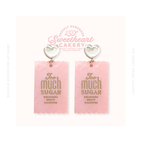 Too Much Sugar Earrings - Pink