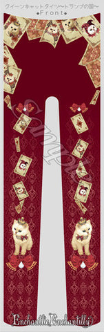 Queen Cat Card Country Tights - Wine