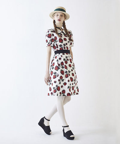 Strawberry Fields Puff Sleeve Dress