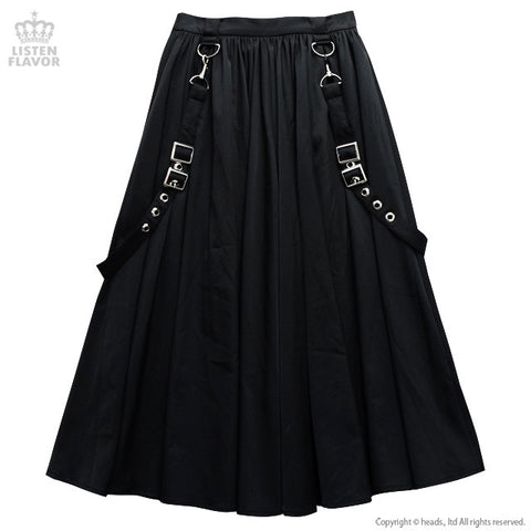 Maxi Suspenders Skirt - Black
