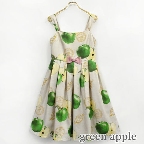 Apple Stamp Jumperskirt - Green Apple