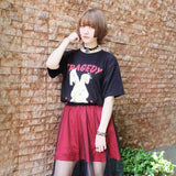 Bandage Rabbit Big T-shirt - Black
