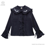 Eternal Innocence Frill Shirt - Black