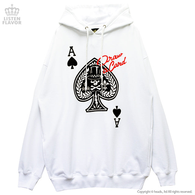 Ace Of Spade Hoodie - White