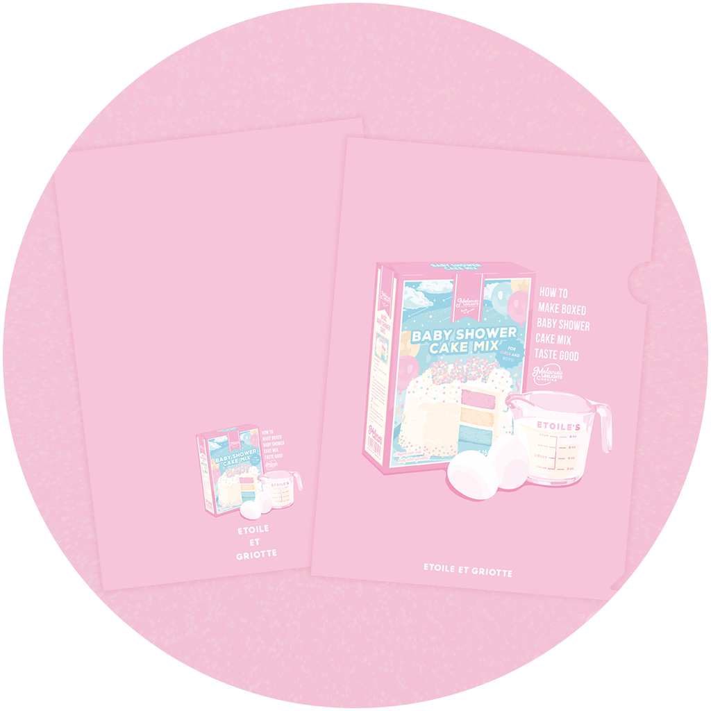 Baby Shower Cake Mix A4 Clear File