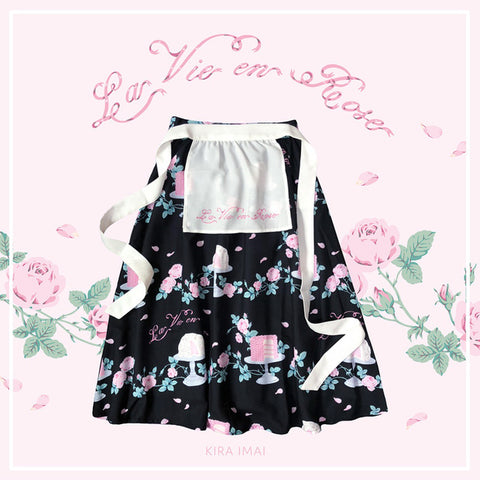La Vie en Rose Apron Skirt