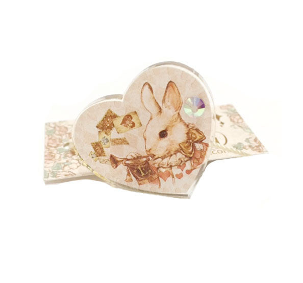 Dolled Up Ring - Trump Bunny Heart Ring