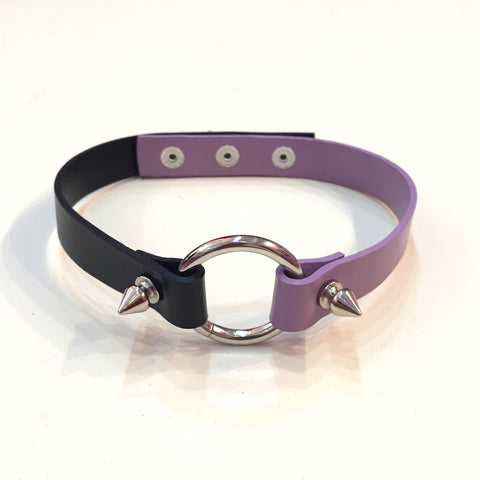 Ring Choker - Black x Lavender