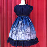 Phantom Night Babydoll - Blue x Silver Glitter