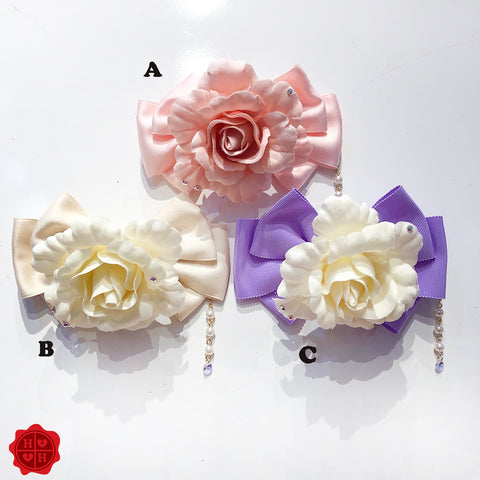 Rose Ribbon Brooch