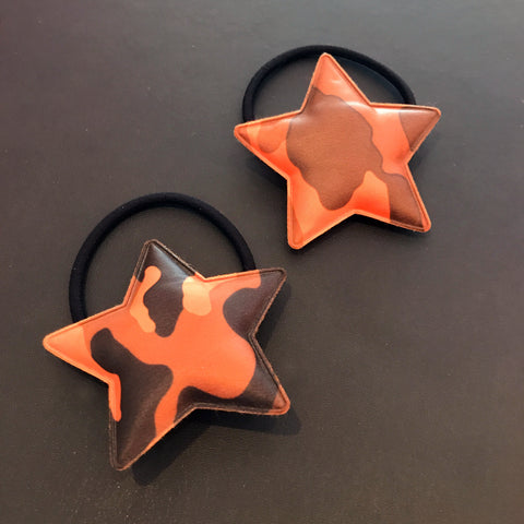 Camo Star Hair Ties
