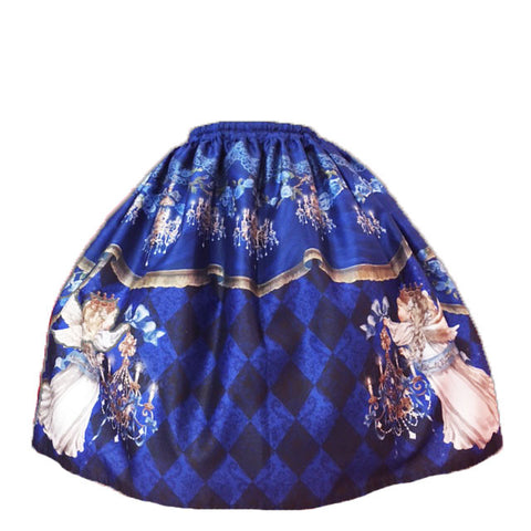 Angel's Choir Skirt - Blue x Black