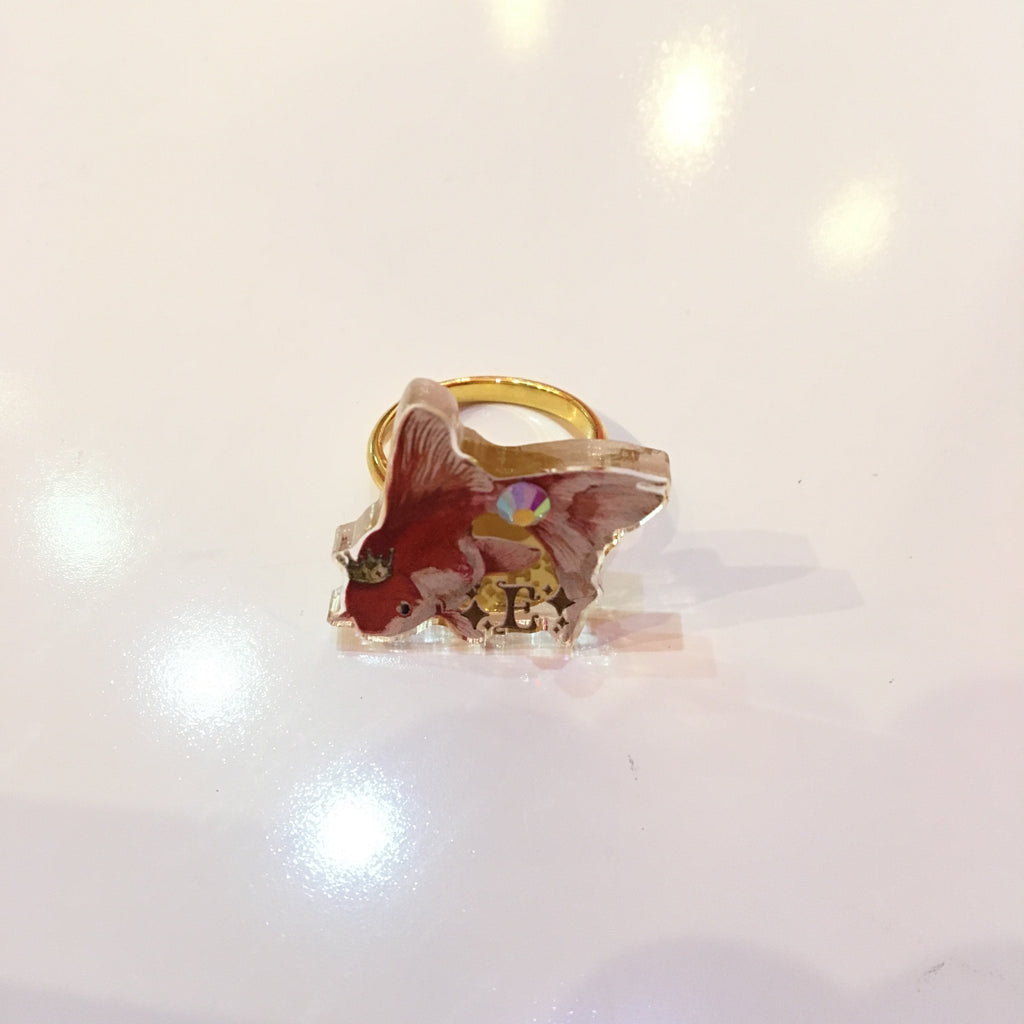 Dolled Up Ring - Red Goldfish