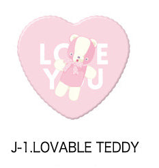 Lovable Teddy Heart Badge