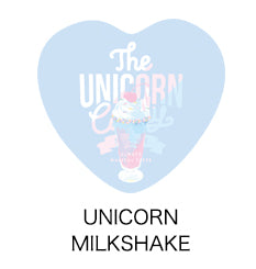 Unicorn Milk Shake Heart Badge