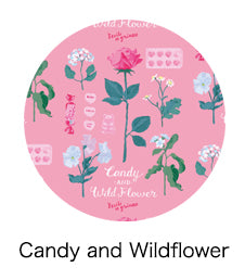 Candy and Wildflower 75mm Badge