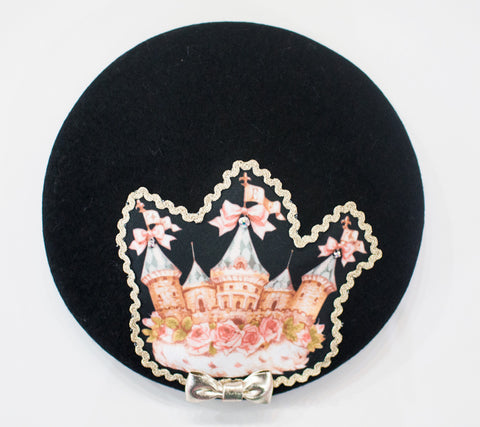Crown Castle Beret - Black