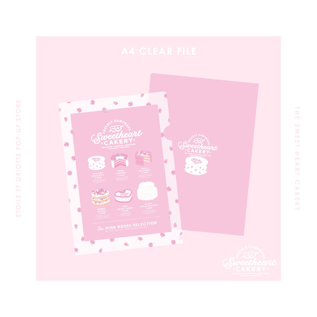 Pink Roses Selection A4 Clear File