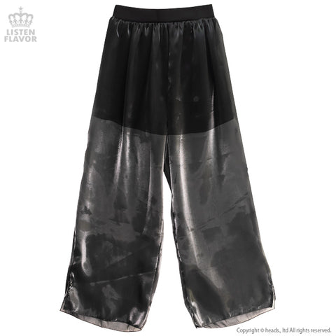 Organdy Layered Pants - Black
