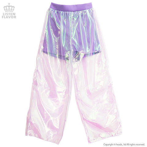 Organdy Layered Pants - Lavender