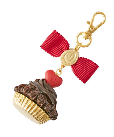 Heart Chocolate Cupcake Bag Charm (Bitter Chocolate)