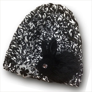 Usagi Knit Hat - Black