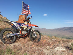 Jesse's KTM and American Flag