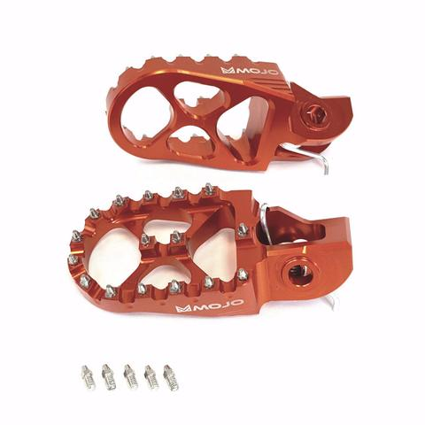 Orange Mojo KTM Foot Pegs