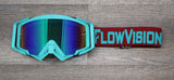 Crimson and Teal Rythem Goggle