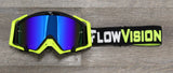 Black and Flo Yellow Rythem Goggle Color