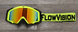 Yellow and Black Goggle Strap on Rythem Goggle