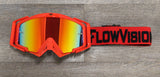 FlowVision Rythem MX Goggle with Red and Black Strap