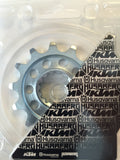 KTM 13 tooth front sprocket in package