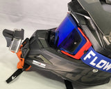 Helmet with Gripper Mount and OsoTuff Visor attached