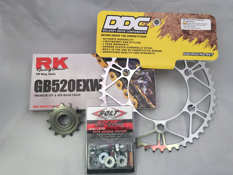 Honda Hardcore Kit: RK Super Premium Chain (XW-Ring)