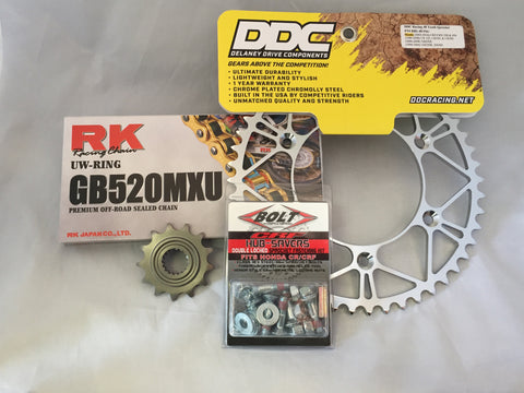Honda Professional Moto Kit: Gold RK Chain (UW-Ring)