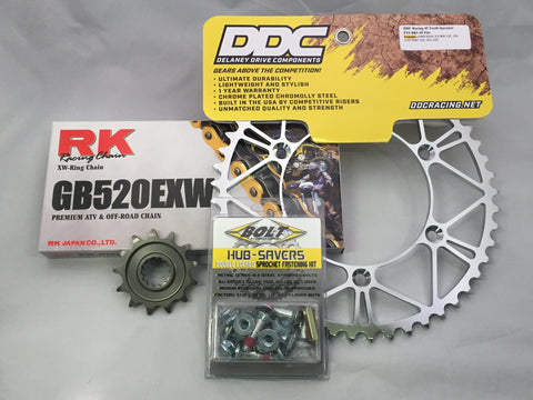 Kawasaki Hardcore Kit: RK Super Premium Chain (XW-Ring)
