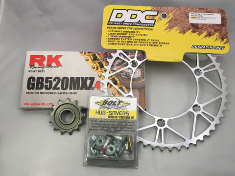 Suzuki Moto Kit: Gold RK MXZ4 Chain (Non O-Ring)